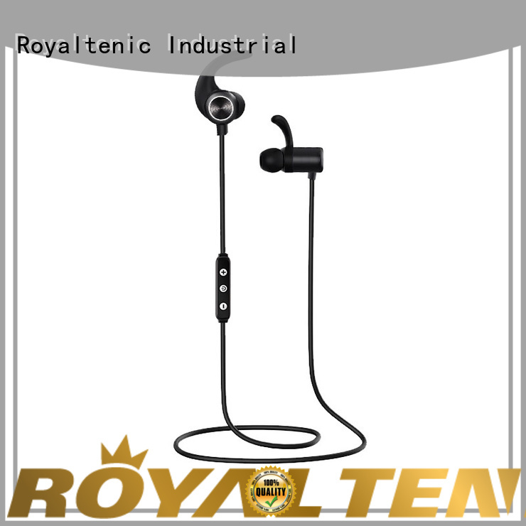 ROYAL TANIC sweatproof sports bluetooth headphones supplier for home