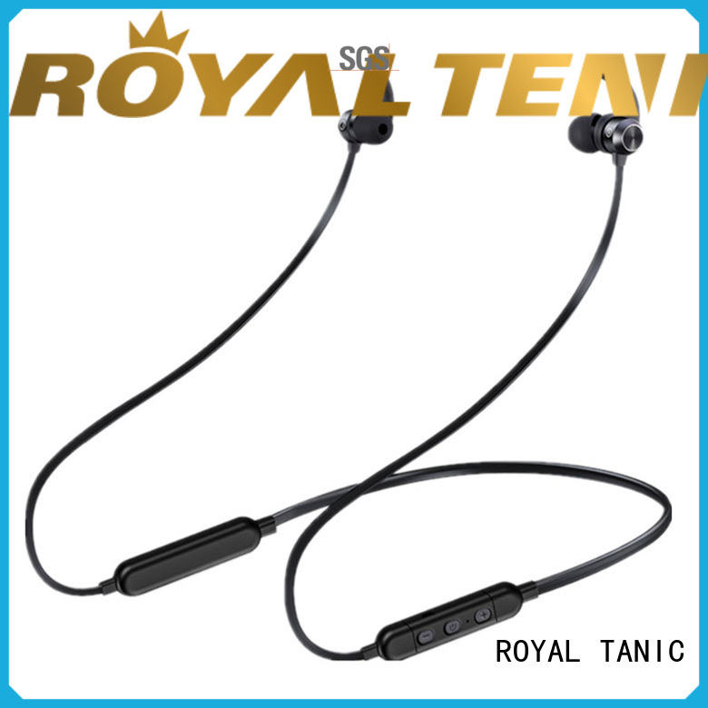 ROYAL TANIC sweatproof sports bluetooth headphones promotion for office