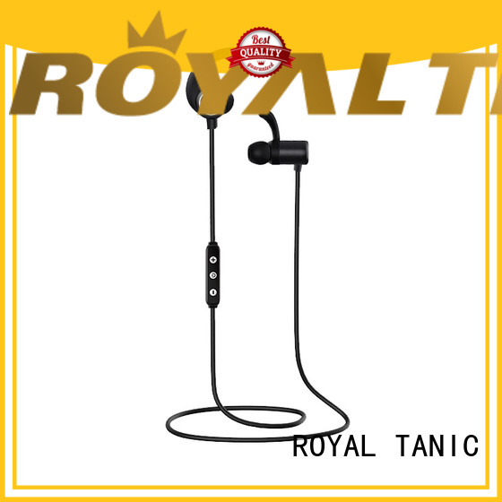 ROYAL TANIC long lasting sports bluetooth headphones with mic for tv