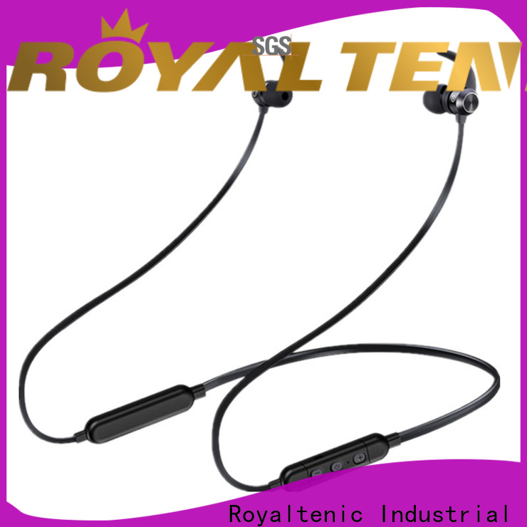 ROYAL TANIC sweatproof sports bluetooth headphones promotion for tv
