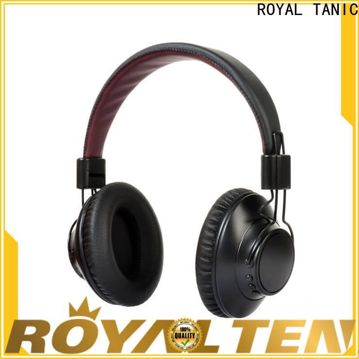 ROYAL TANIC anc bluetooth headphones with mic for trains