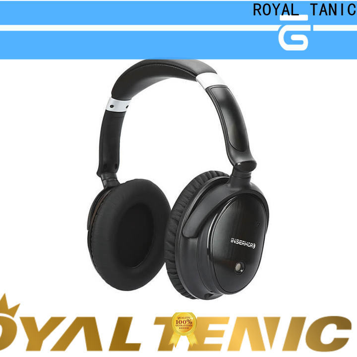 ROYAL TANIC durable anc bluetooth headphones with mic for office