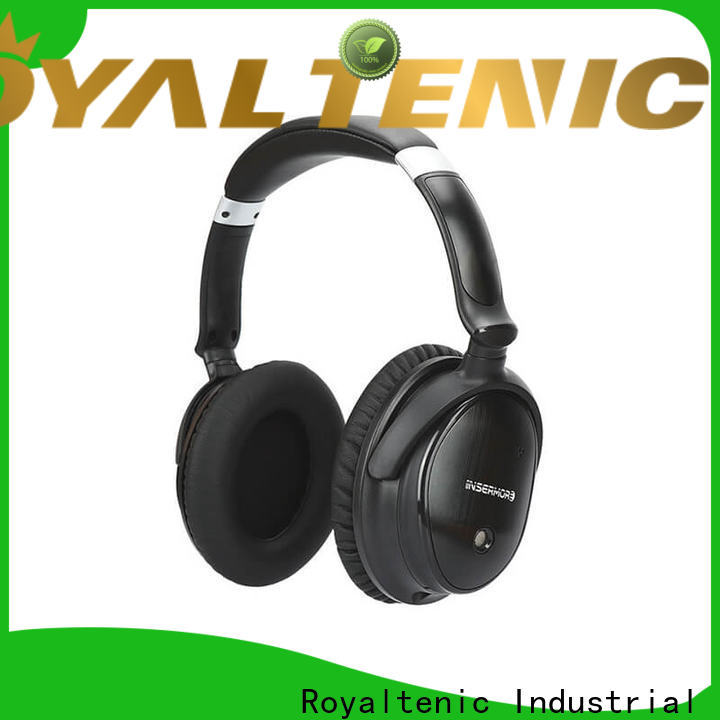 ROYAL TANIC professional anc bluetooth headphones promotion for trains