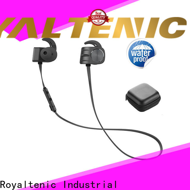 ROYAL TANIC technical magnetic bluetooth earphones easy to carry for gym