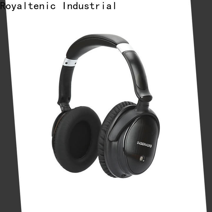 ROYAL TANIC noise cancelling headset promotion for airplanes
