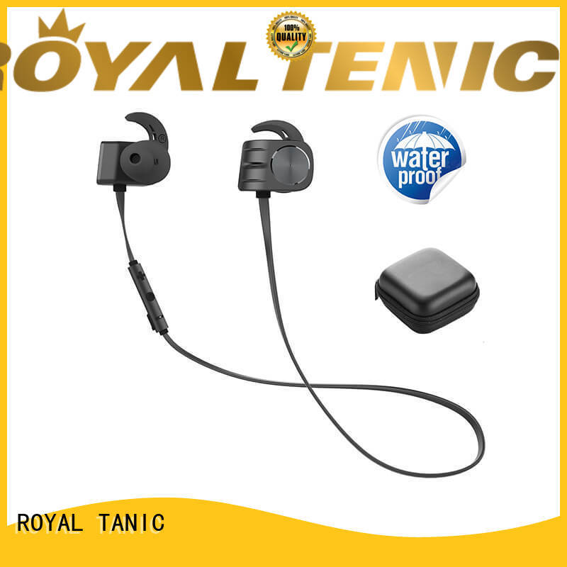 ROYAL TANIC stereo magnetic bluetooth earphones manufacturer for hiking