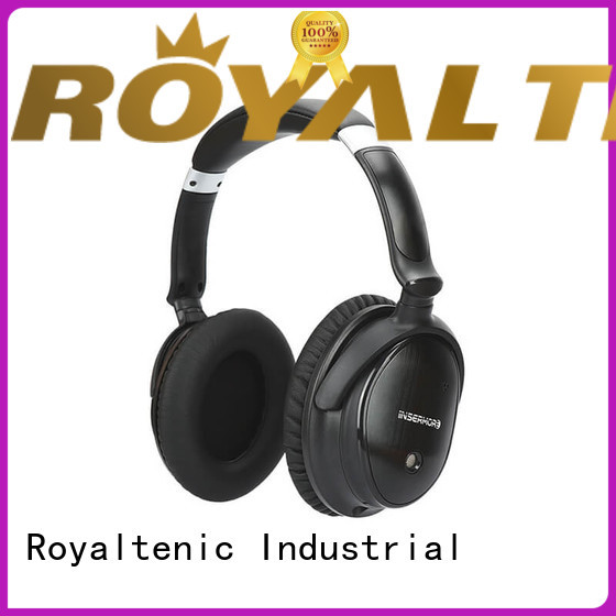 professional noise isolating headphones promotion for airplanes