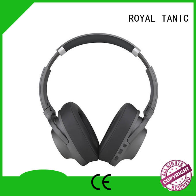 bass stereo hifi ROYAL TANIC Brand noise cancelling headphones with microphone factory