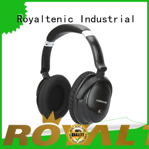 bluetooth noise cancelling headphones with microphone stereo for office ROYAL TANIC