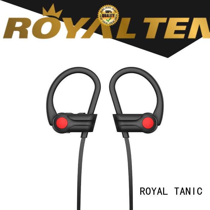 ROYAL TANIC Brand battery builtin gym custom best wireless headphones for gym