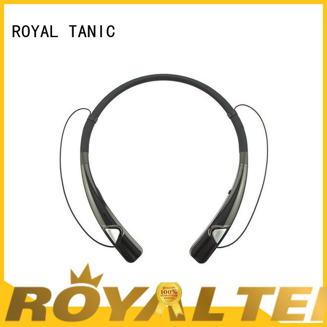 ROYAL TANIC running behind the neck bluetooth magnetic earbud headset from China for gym