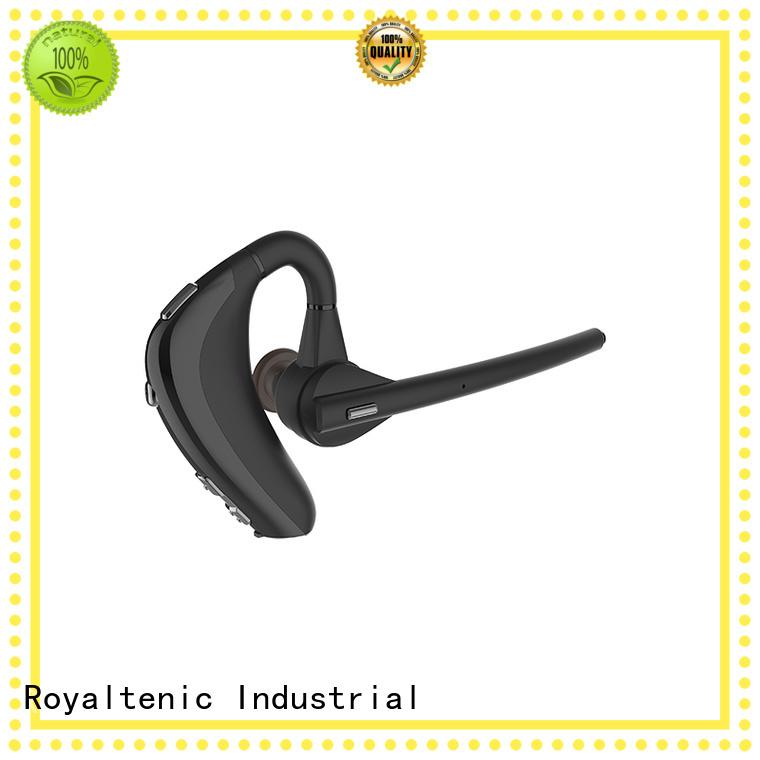 sweatproof microphone earphones ear ROYAL TANIC Brand sports bluetooth headphones supplier