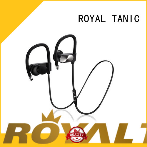 builtin sweat proof wireless headphones series for running ROYAL TANIC
