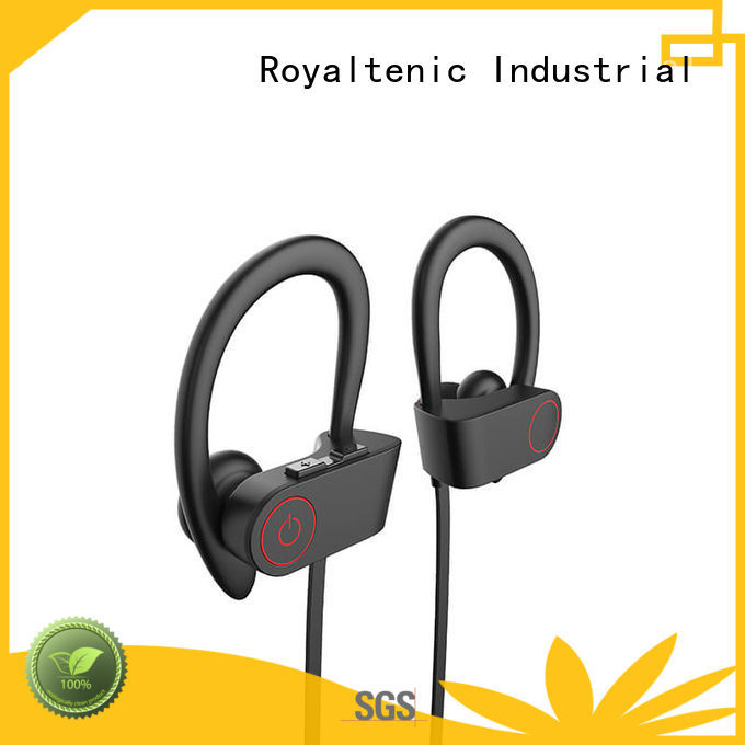 stereo buds earphones designed sports bluetooth headphones ROYAL TANIC
