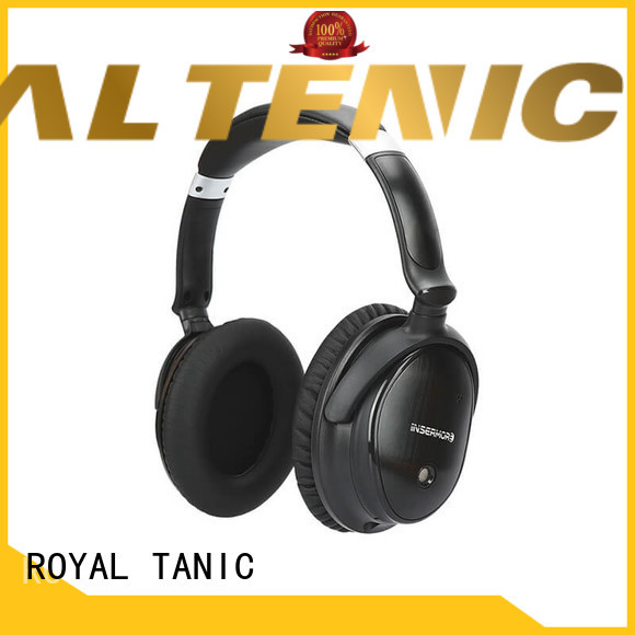 ROYAL TANIC wireless sound blocking headphones promotion for office
