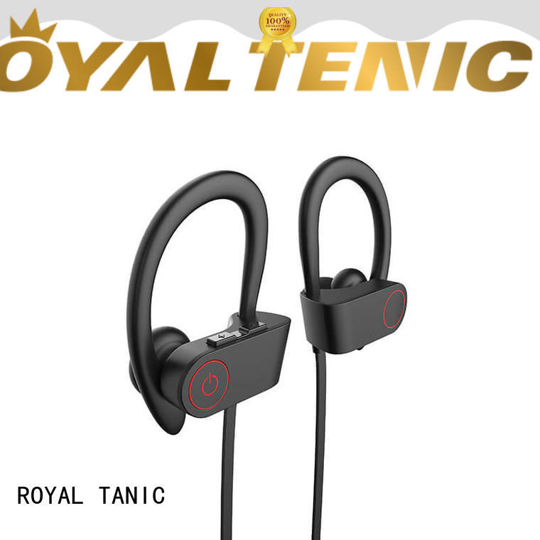ROYAL TANIC long lasting sports bluetooth headphones customized for running