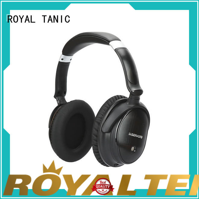 ROYAL TANIC good quality anc bluetooth headphones promotion for airplanes