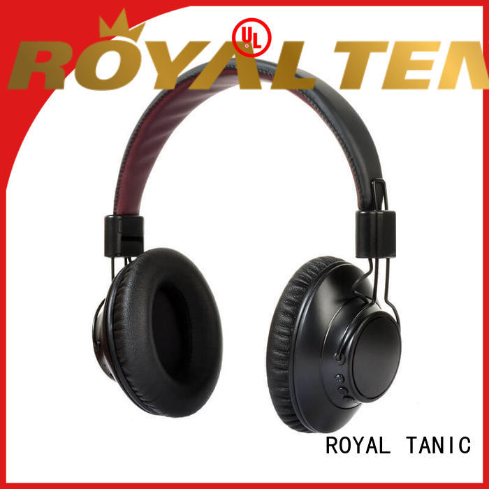 noise cancelling headphones with microphone stereo oem anc bluetooth headphones ROYAL TANIC Brand
